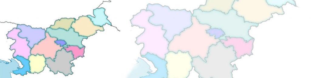 Kuhinjska stekla Gorenjska, Primorska, Osrednja Slovenija